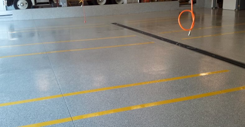 Firehouse Gets Concrete Floor Coating The Concrete Network