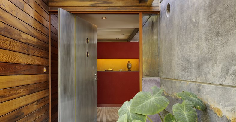 Front Door, Wood, Concrete, Metal Site Cheng Design Berkeley, CA