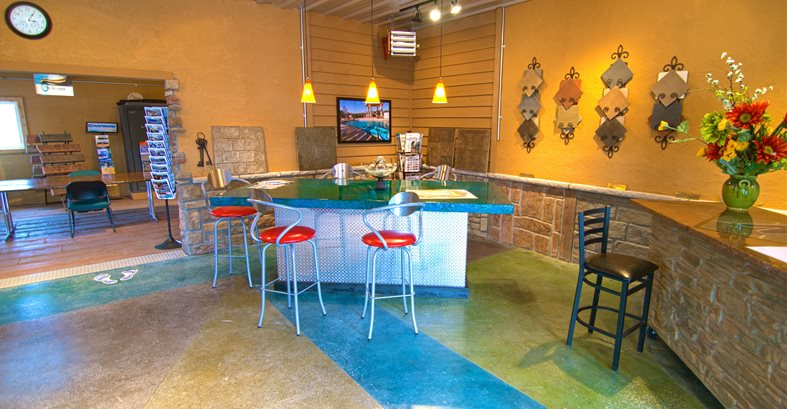 Stamped Concrete Showroom : Decorative concrete showroom tips the network