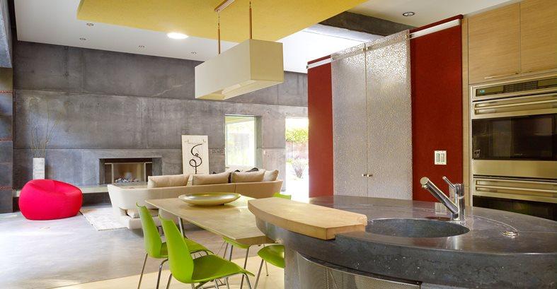 Island, Counter, Oblong, Sink, Gray Site Cheng Design Berkeley, CA