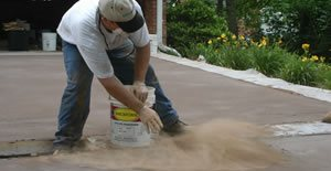 Laying Driveway Site Decorative Concrete Institute Temple, GA