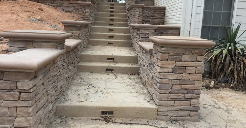 Low Voltage, Stair Lighting Site Greystone Masonry Inc Stafford, VA