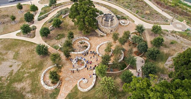 Mission Concepcion Park, Overhead View Site Sundek of San Antonio San Antonio, TX