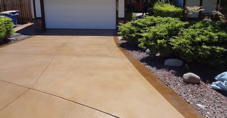Resurfaced Driveway Site Concrete Product Resource Santa Rosa, CA