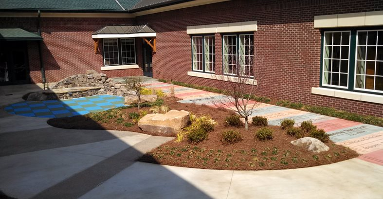 School Courtyard, Serpentine Sidewalk Site Concrete By Design LLC Sharpsburg, GA