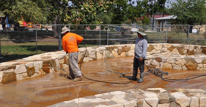 Sealing Decorative Concrete, San Antonio Site Sundek of San Antonio San Antonio, TX