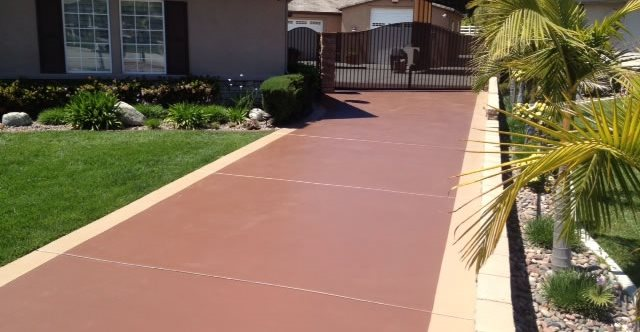 Stained Existing Driveway KB Concrete Staining Norco, CA