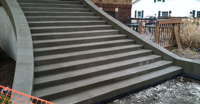 Stairs, Curing, Fresh Site Mattingly Concrete Indianapolis, IN