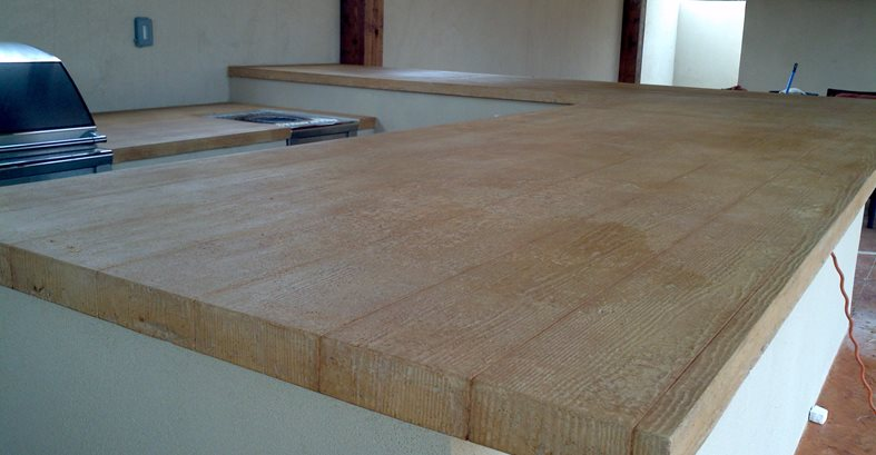 Faux Wood Countertops The Concrete Network