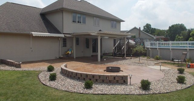 Marvelous How To Build A Fire Pit On Concrete Patio # 6: Marvelous How To