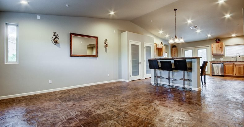 Stamped Concrete Flooring Indoors The Network
