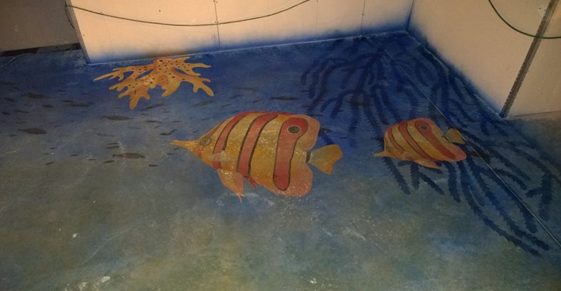 Stenciled Sea Creatures Site American Society of Concrete Contractors ,