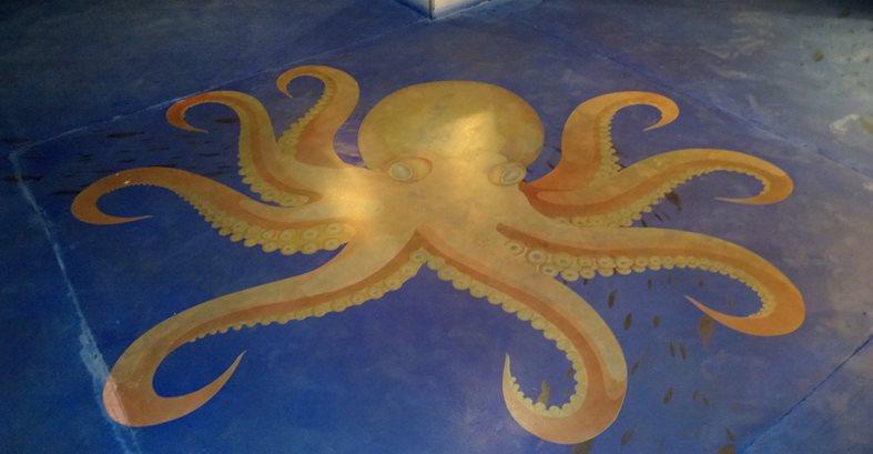 Stenciled Sea Creatures Site American Society of Concrete Contractors ,