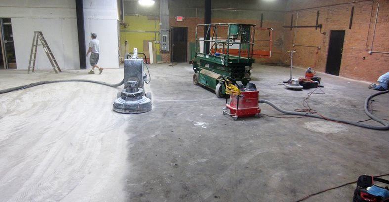 Surface Preparation, Concrete Grinding Site Custom Concrete Solutions, LLC West Hartford, CT