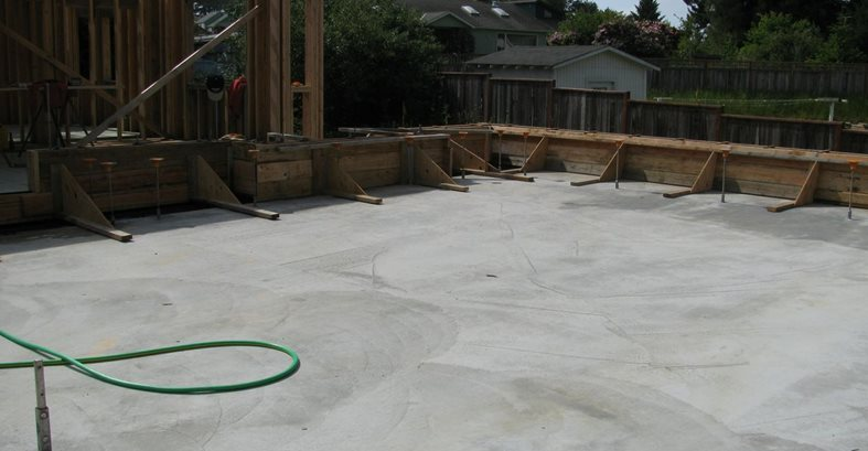 Suspended Concrete Roof Deck Site Alchemy Construction Inc Arcata, CA