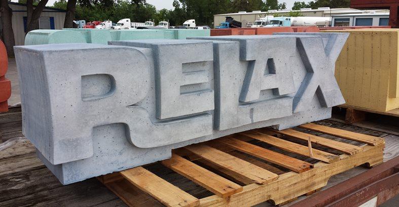Typographic Bench Site C.S.W. Creations Simonton, TX