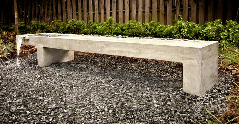 Contemporary Bench Water Features Turning Stone Design Atlanta, GA