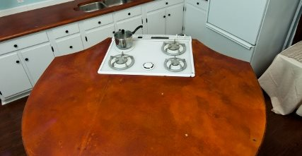 Large Concrete Kitchen Island Concrete Countertops Reformed Concrete LLC Quarryville, PA