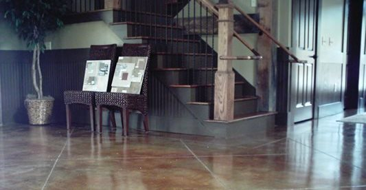 Diamond Cut, Stairs, Living Room Concrete Floors Custom Design Concrete Resurfacing Locust Grove, GA