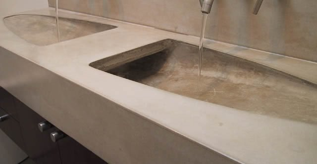 Bathroom Countertops Concrete Designs For Bathroom Counters And
