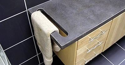 Towel Hanger, Slate Architectural Details Liquid Stone Designs Lenexa, KS
