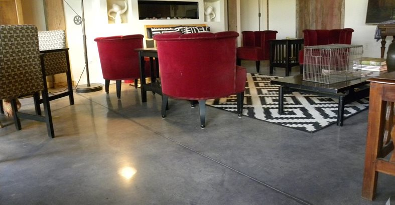 Living Room, Polished, Concrete, Chairs Concrete Floors Romer Decorative Solutions Canton, MI