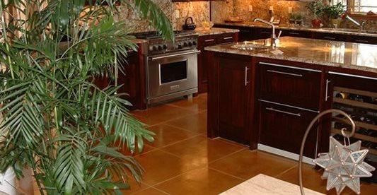 污渍,厨房,混凝土地板混凝土地板Pritchard Concrete Golden,Co
