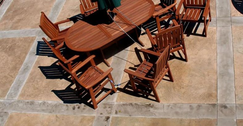 Patio, Table, Chairs, Stained, Pattern Site CDS New England, Inc Wrentham, MA