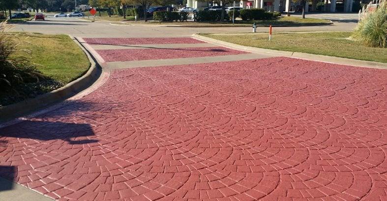 Stamped Driveway, Euopean Fan Site BDC Concrete Polishing Grand Prairie, TX