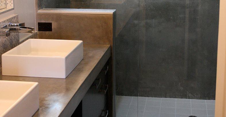 混凝土柜台,双垫地站点混凝土波设计Anaheim,CA
