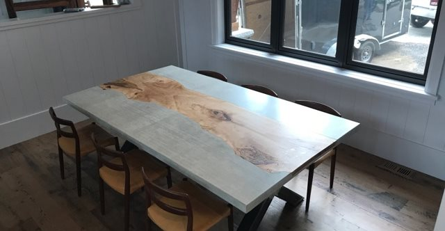 Custom Table, Dining Table Site Total Concrete Innovations Cambridge, ON