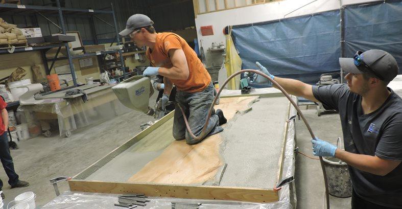 Spraying Concrete, Hopper Gun Site Total Concrete Innovations Cambridge, ON