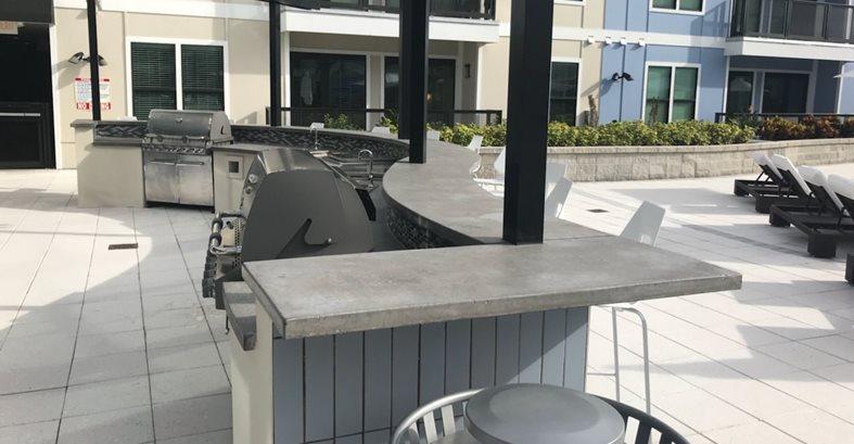 Apartment, Outdoor, Counter Concrete Countertops Stonecrete USA Tampa, FL