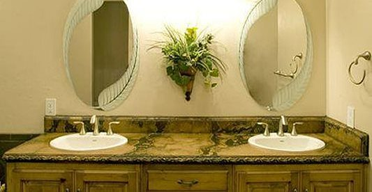 His And Hers Sinks, Concrete Countertop, Ornate Design Concrete Countertops The Concrete Artisans Occoquan, VA