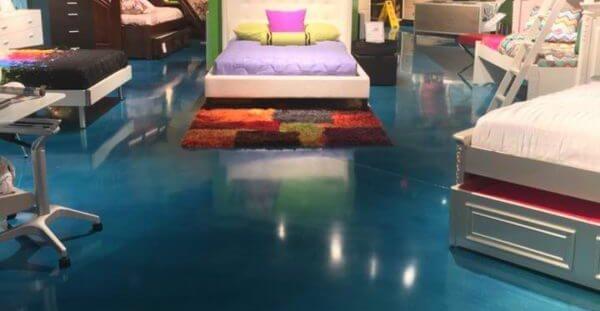 Blue, Retail Concrete Floors Concrete Master USA Miami, FL