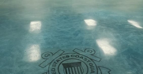 Coast Guard, Color, Blue Concrete Floors Open Earth, Inc. Bradenton, FL