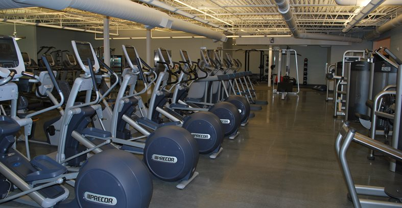 Gym, Polished Floors, Elipticals Concrete Floors Contract Flooring & Design Inc Kinston, NC