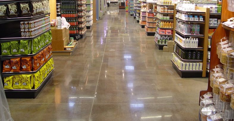 Polished, Grocery Store Concrete Floors Concrete Reflections Earleton, FL