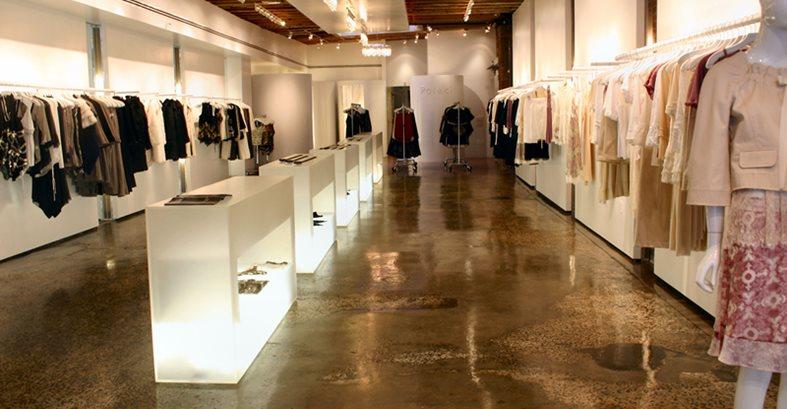 Retail Floor Concrete Floors Diversified Decorative Finishes Inc Monroe, NC
