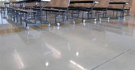 School, Cafeteria Concrete Floors K & J Concrete Polishing Inc Knoxville, TN