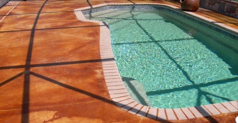 Brown, Pool, Stain Concrete Pool Decks Kleaner Image Orlando, FL