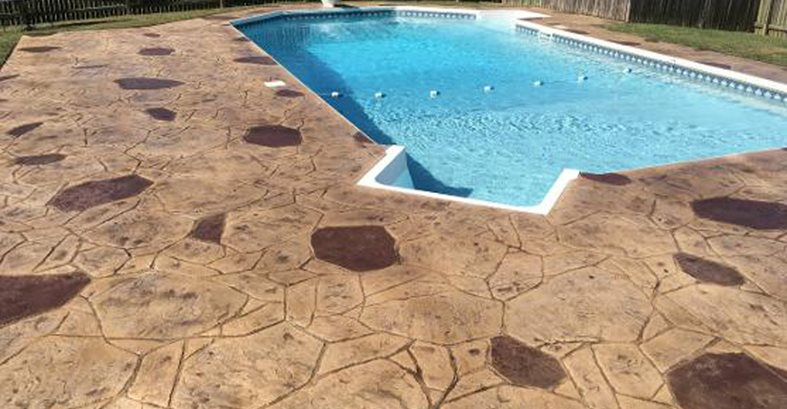 Stamped Concrete, Stamped Concrete Pool Deck, Pool Deck, Concrete, Concrete Pool Deck Concrete Pool Decks Smart Concrete Solutions LLC Lutherville-Timonium, MD