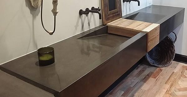 Concrete Sinks Sarche' Concrete Design Dallas, TX