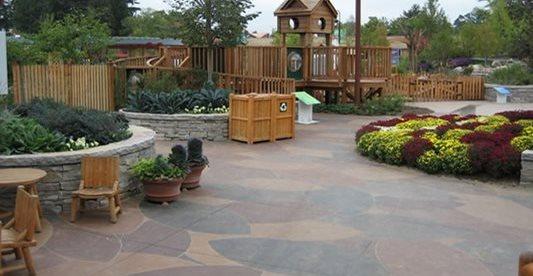 Arboretum, Stained Concrete Concrete Walkways Designing Concrete Inc Woodstock, IL