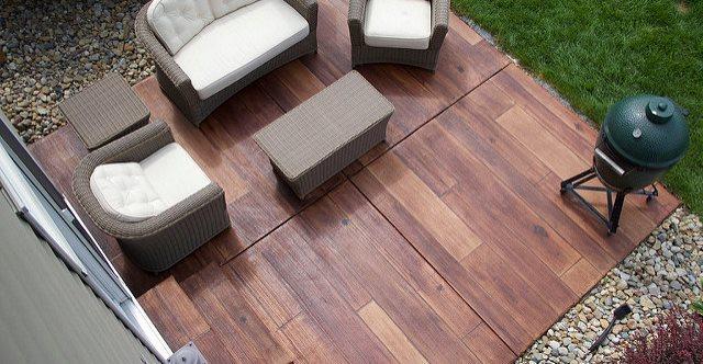 Rustic Concrete Wood Site Special Concrete Solutions LLC Davie, FL