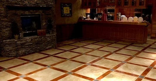 Stained, Pattern Commercial Floors Etched-In-Stone Designs LLC Sorrento, FL