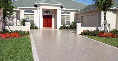 Diamond Patter, Driveway Concrete Driveways Elegant Concrete Engraving Sarasota, FL