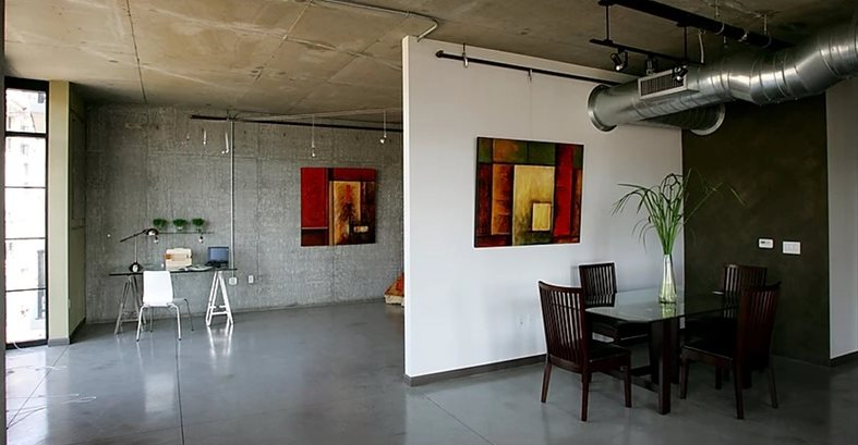 Polished, Dining Concrete Floors Specialty Design Coatings Laguna Niguel, CA