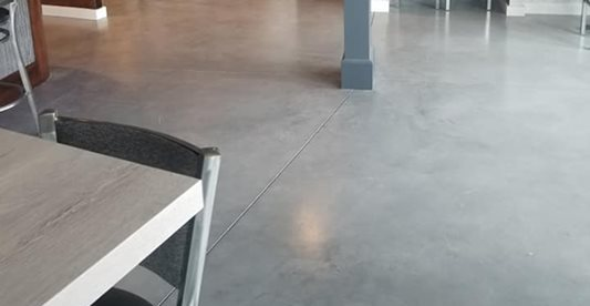 Polished, Grey, Restaurant Concrete Floors Giordano Custom Concrete Inc. Danvers, MA