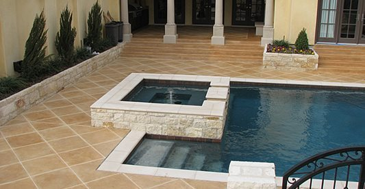Pool Deck, Jacuzzi, Courtyard Concrete Pool Decks Concrete Cosmetics Crowley, TX